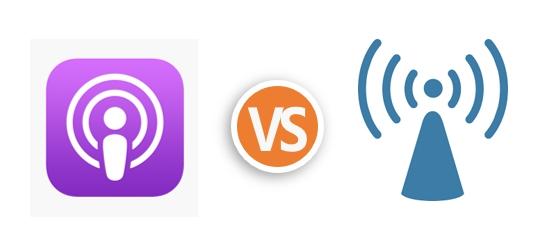 Podcast和廣播差異